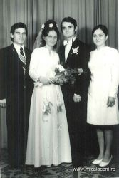Casatorie Virginia si Mireca Dan-alaturi Mihai si Felicia   Bordei -anul 1975