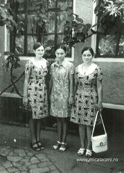Felicia Dan (Bordei) si Mariana Dan - in mijloc Virginia   Boghean-August 1973