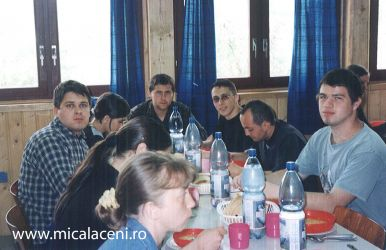 o parte din tinerii micalaceni in Tabara